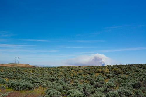 Wildfire smoke, Vantage, WA